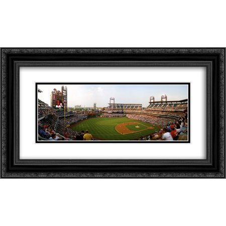 Citizens Bank Park 2X Matted 24X14 Black Ornate Framed Art Print From The Stadium Series