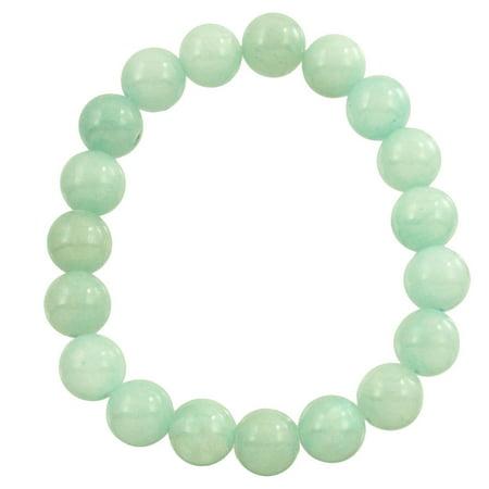 Falari Natural Gemstone Bracelet 10mm Stretch One Size