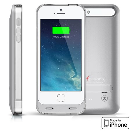 Alpatronix BX120 2400mAh iPhone 5 / 5S / SE Slim Battery Case Charger