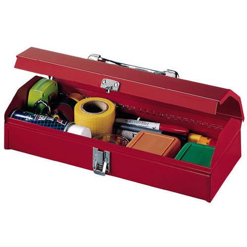 "Stack-On 15"" Metal Gadget Tool Box - RED"