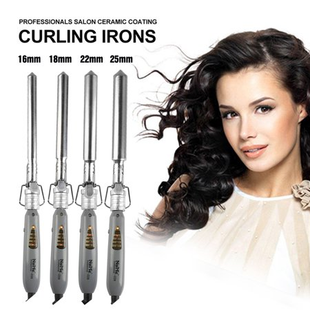 Professional Hair Curling Iron Tong Styler Ceramic Curling Iron Curler 16mm/19mm/22mm/25mm EU Plug (Best Curling Tongs For Long Thick Hair Uk)