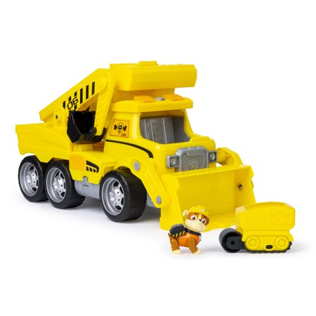 PAW Patrol, Ultimate Rescue Construction Truck with Lights, Sound and Mini Vehicle, for Ages 3 and Up (Paw Patrol Halloween Pumpkin Carving)