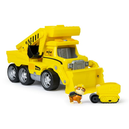 PAW Patrol, Ultimate Rescue Construction Truck with Lights, Sound and Mini Vehicle, for Ages 3 and Up](Paw Paw Patrol)