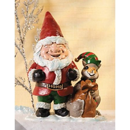 Charming Santa Holiday Gnome w/ Squirrel