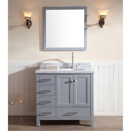 Ariel A037s R Cambridge 37 In Single Bathroom Vanity Set With Right