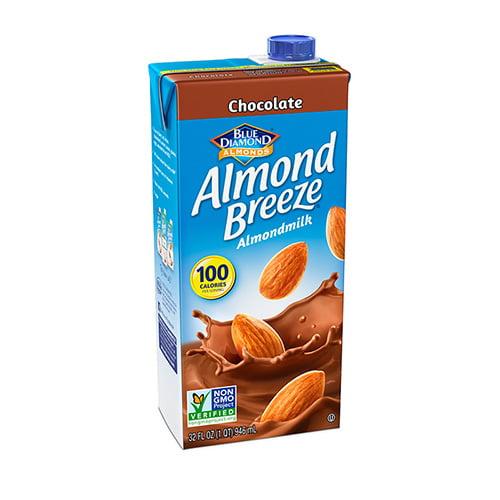 (4 Pack) Blue Diamond Almond Breeze Chocolate Almondmilk, 32 fl oz