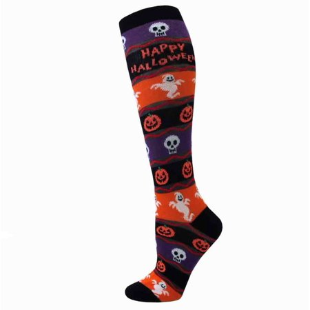 Davco Happy Halloween Knee High Socks - Halloween Knee High Socks Walmart