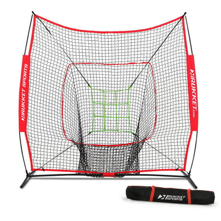 Rukket 7x7 Sock It! Baseball & Softball Practice Net with Adjustable Target