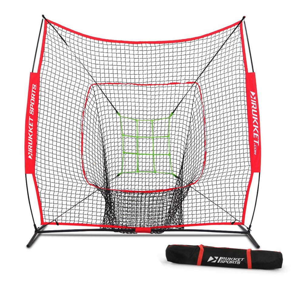 Rukket 7x7 Sock It! Baseball and Softball Practice Net with Adjustable Target