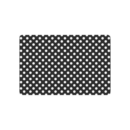 YUSDECOR Girly Polka Dots in Black and White Doormat Rug Home Decor Floor Mat Bath Mat 23.6x15.7 inch - image 1 of 3