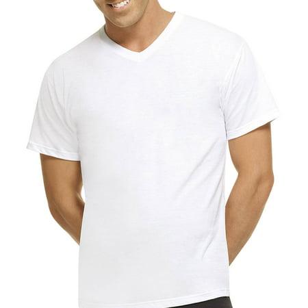 Hanes Big Mens Freshiq White Comfortblend V Neck T Shirts 3 Pack  2Xl