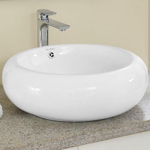 Swiss Madison Plaisir  Circular Vessel Bathroom Sink with...