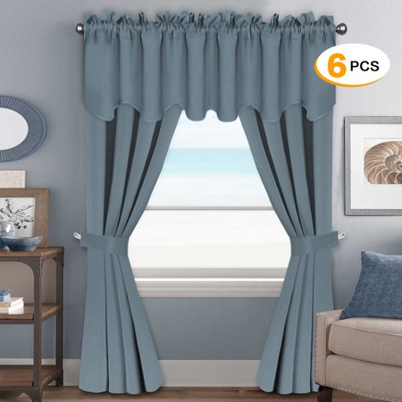 H.VERSAILTEX Blackout Curtains Sets (6 pcs), Thermal Insulated ...