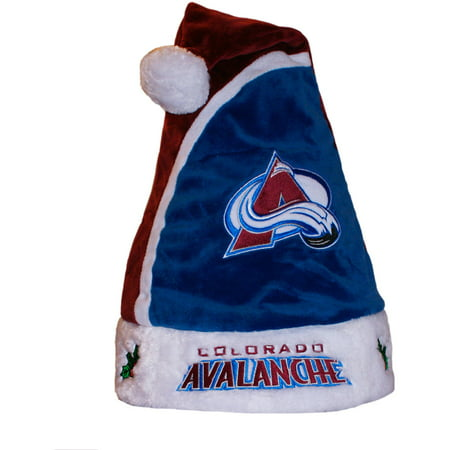 Forever Collectibles NHL 2015 Santa Hat, Colorado Avalanche