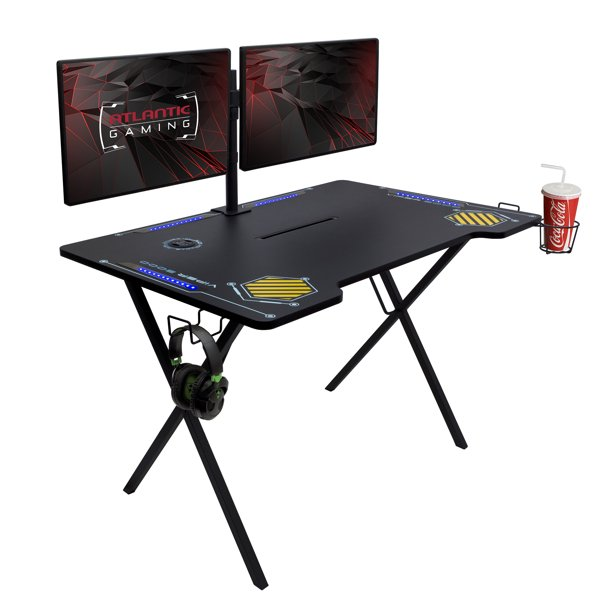Atlantic Viper 3000 Gaming Desk with LED Lights