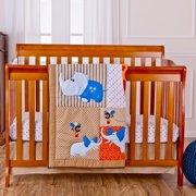 Dream On Me Jungle Babies 5 Piece Crib Reversible Full Size Crib Set