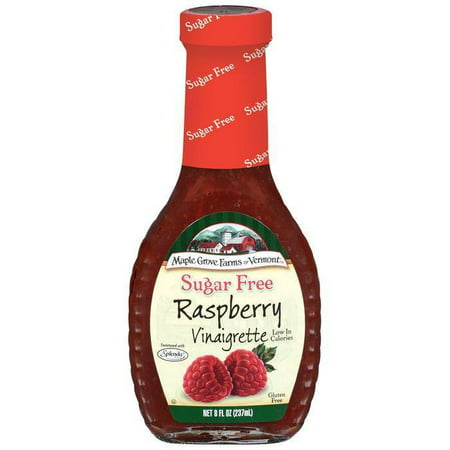 Maple Grove Farms Sugar Free Raspberry Vinaigrette Dressing 8 Oz (Pack of