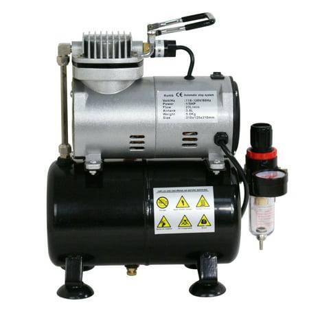 - Zeny Airbrush Air Tank Compressor Regulator Filter Hose 3L Tank 1450-1750 RPM 1/5 HP