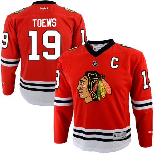 Jonathan Toews Chicago Blackhawks Reebok Youth Replica Player Hockey Jersey Red by Outerstuff
