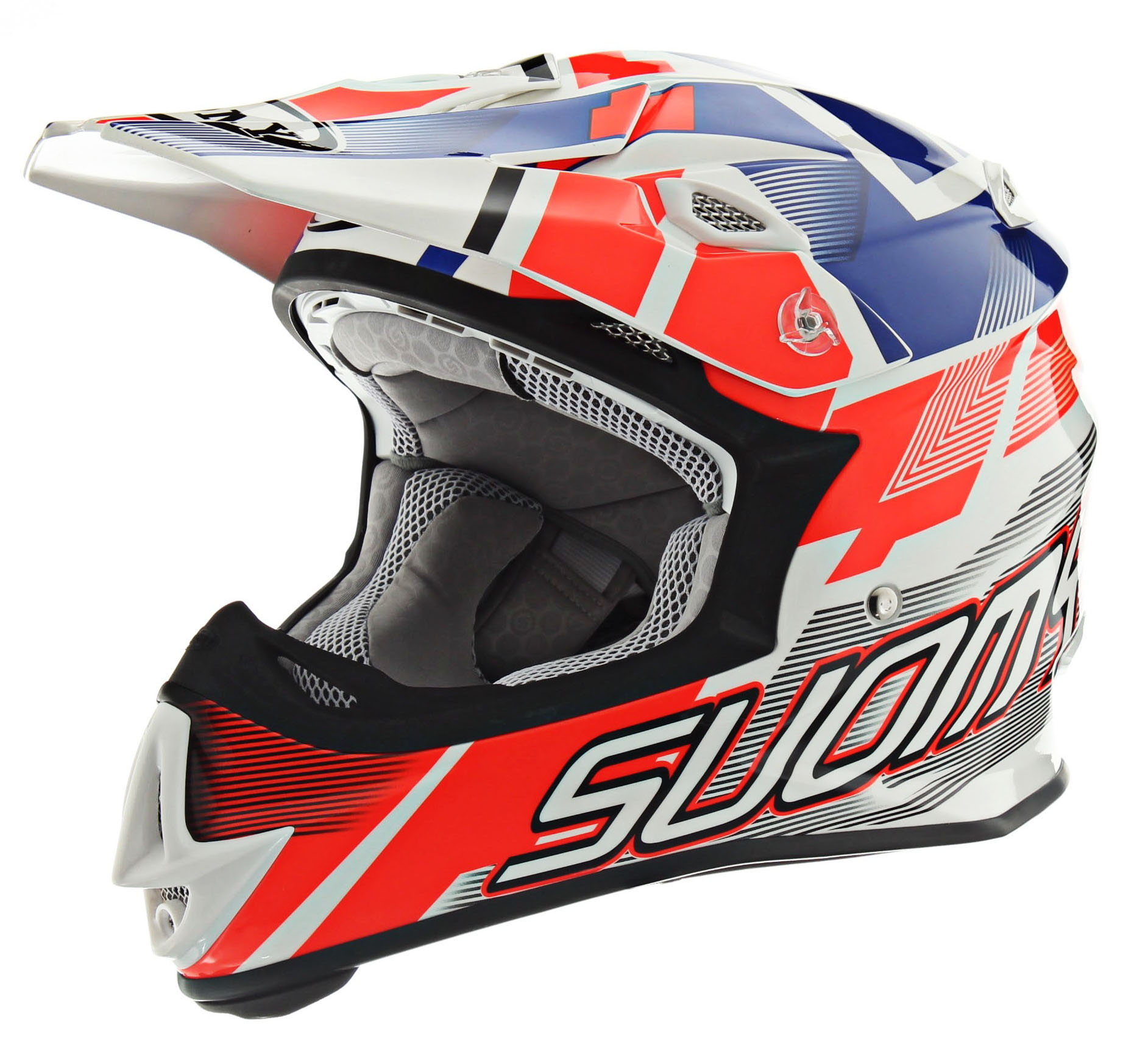 Suomy MX Jump Special Red White Blue Helmet