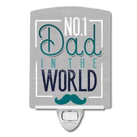 No 1 Dad in the World Ceramic Night Light