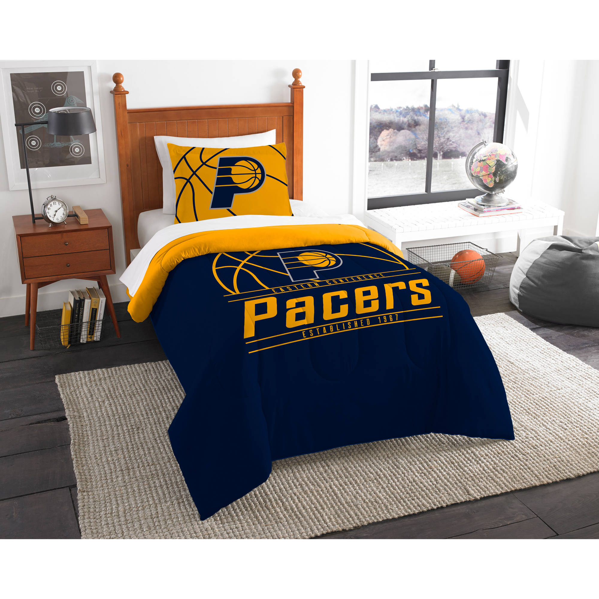 "NBA Indiana Pacers ""Reverse Slam"" Bedding Comforter Set"