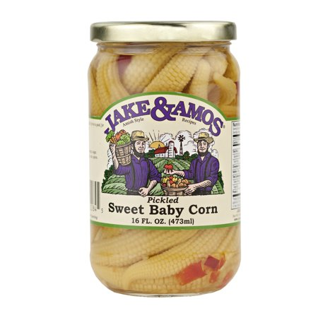Jake & Amos Pickled Sweet Baby Corn 16 oz. Jar (2 Jars)