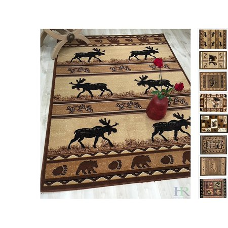 Handcraft Rugs Cabin Rug Lodge Cabin Nature And Animals