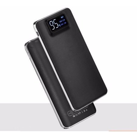 Portable 500000mAh LCD Power Bank External 2 USB Battery Charger For Cell