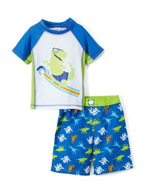 bdaa664b4d727 Product Image Dinosaur Rashguard and Swim Trunk , 2-Piece Set (Toddler and  Infant Boys)