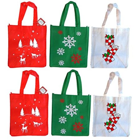 Duck Gift Bags (Set of 6 Non-Woven Reusable Fabric Holiday Gift Bags 12