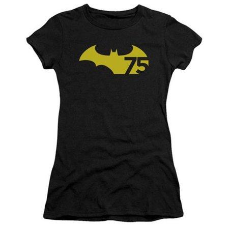 Batman-75 Logo 2 - Short Sleeve Junior Sheer Tee - Black, 2X - image 1 de 1