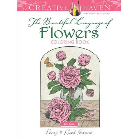 Creative Haven the Beautiful Language of Flowers Coloring - Spring Flowers Coloring Pages