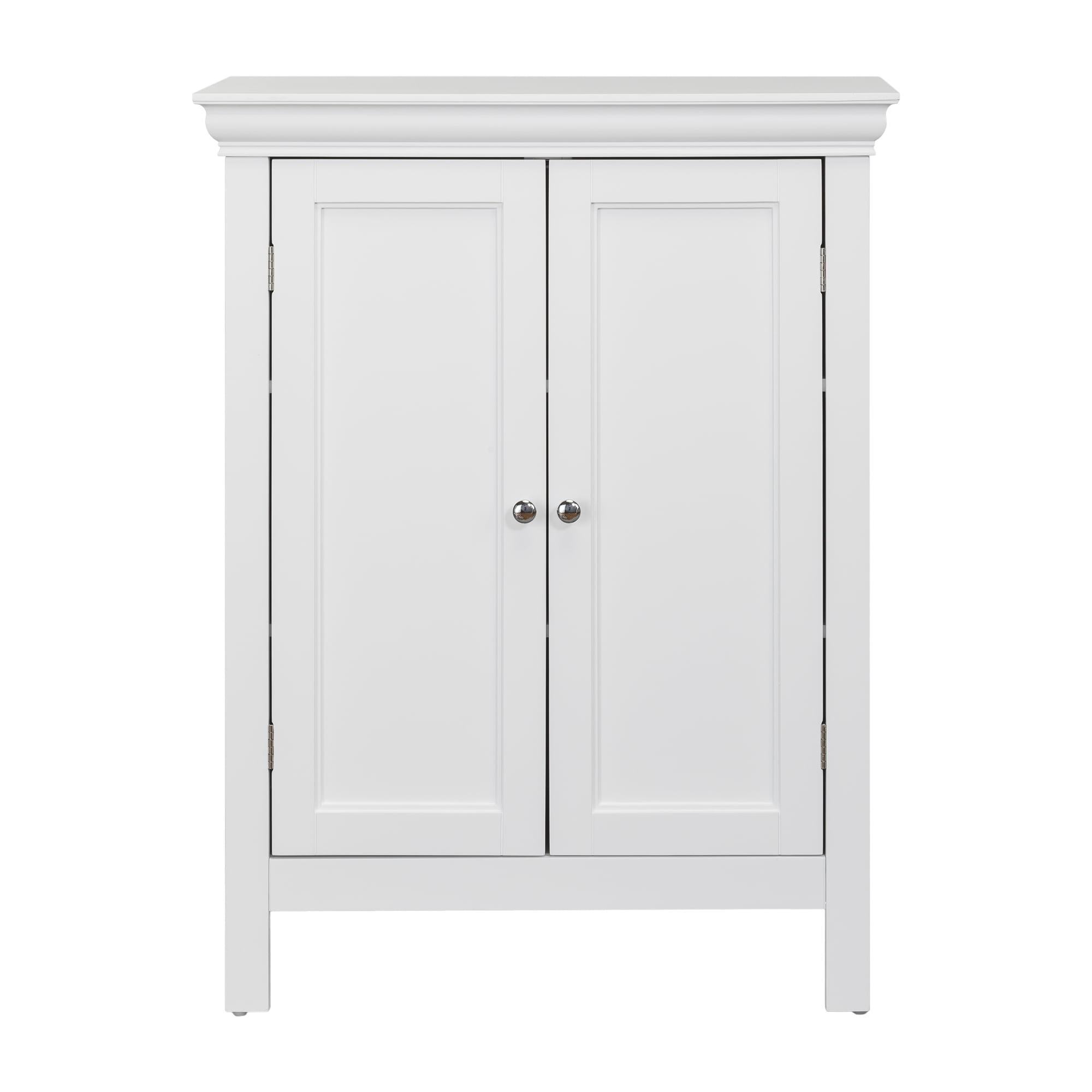 Elegant Home Fashions Teton 2 Door Bathroom Floor Storage Cabinet
