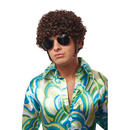 That 70's Guy Wig (Brown) (Halloween 70's Wigs)