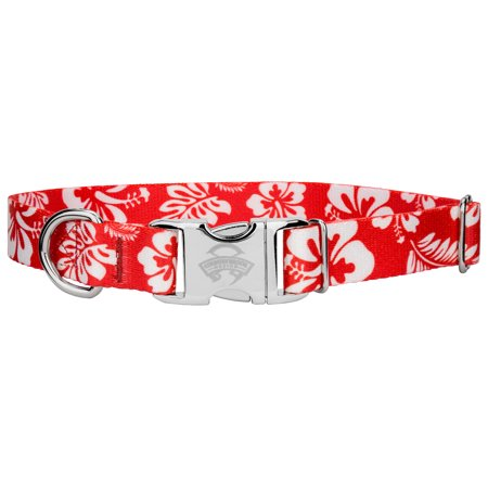 Country Brook Design® Premium Red Hawaiian Dog Collar Island Dog Collar