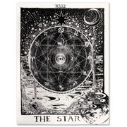 "eZAKKA Tarot Tapestry The Moon The Star The Sun Tapestry Medieval Europe Divination Tapestry Wall Hanging Tapestries Mysterious Wall Tapestry for Home Decor, 51""x 59"" (The Star)"