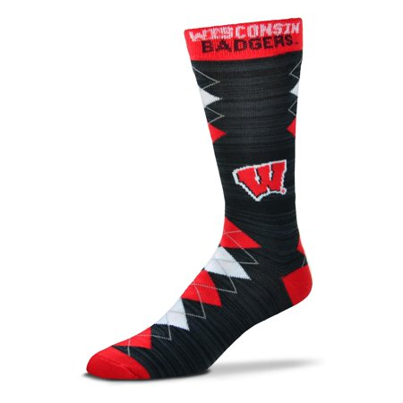 Wisconsin Badgers Fan Nation Socks, Large](Iu Ncaa)