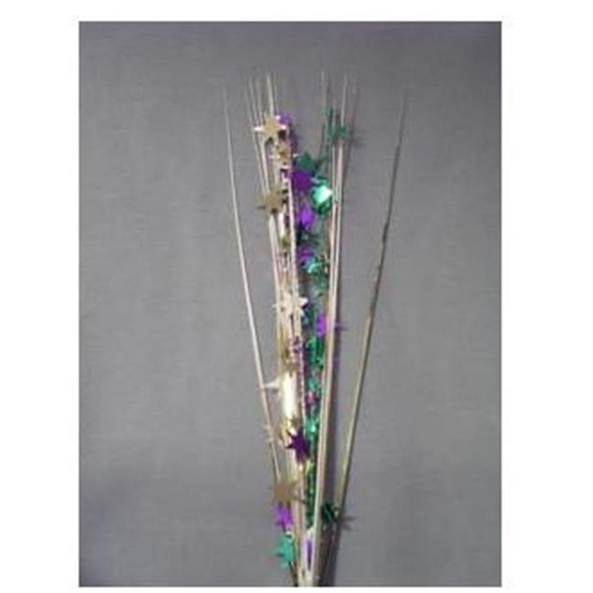 Decoart Party Deco 06532 21 in. Purple- Green and Gold St...