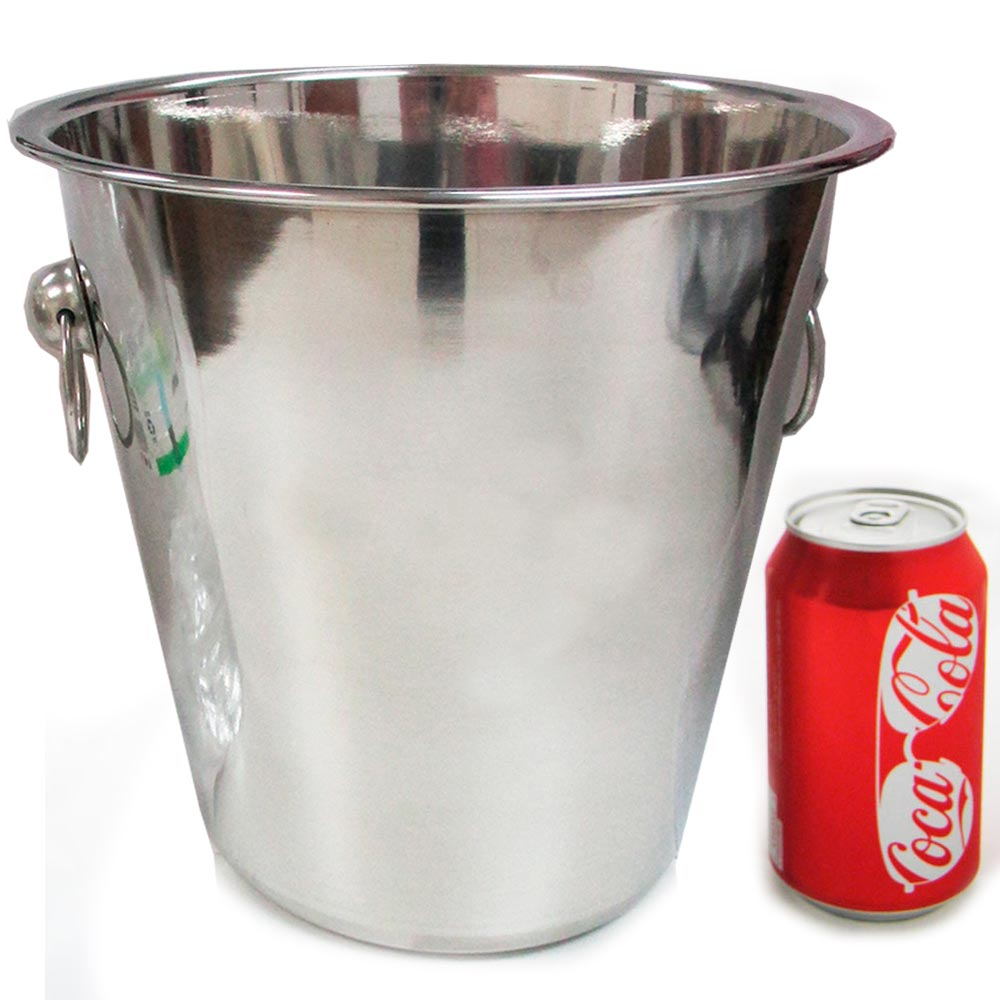 12 Pc Stainless Steel Ice Bucket Cooler Drinks Wine Champagne Bar Handle 5 Qt by HAWK IMPORTERS