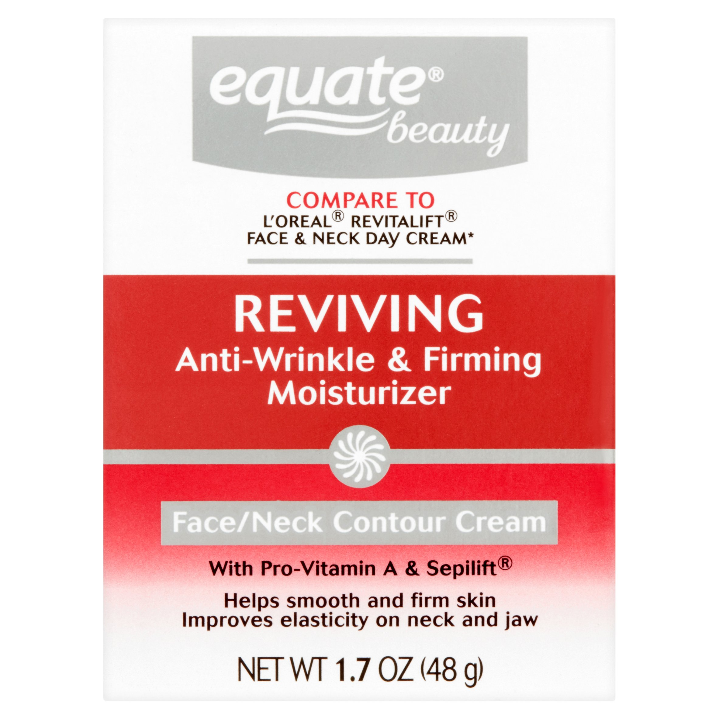 Equate Advanced Firming & Anti-Wrinkle Cream Face and Neck Moisturizer, 1.7oz