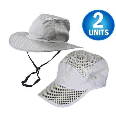 2 Polar Hydro Evaporative Cooling Hat With UV Reflective Protection Bucket Cap - Unisex - Cap & Brimmed