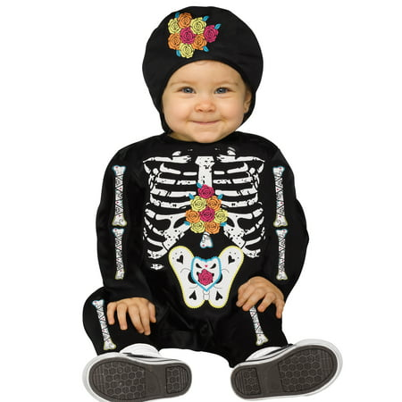 Baby Bones Little Tiny Skeleton Toddler Baby Halloween - Mother Father Baby Halloween Costume