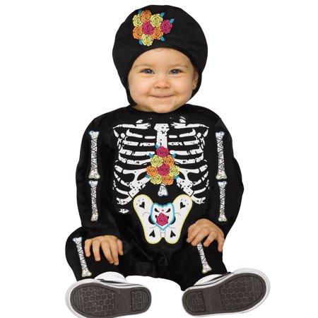 Baby Bones Little Tiny Skeleton Toddler Baby Halloween Costume](Halloween Costume Baby On Grandma's Back)