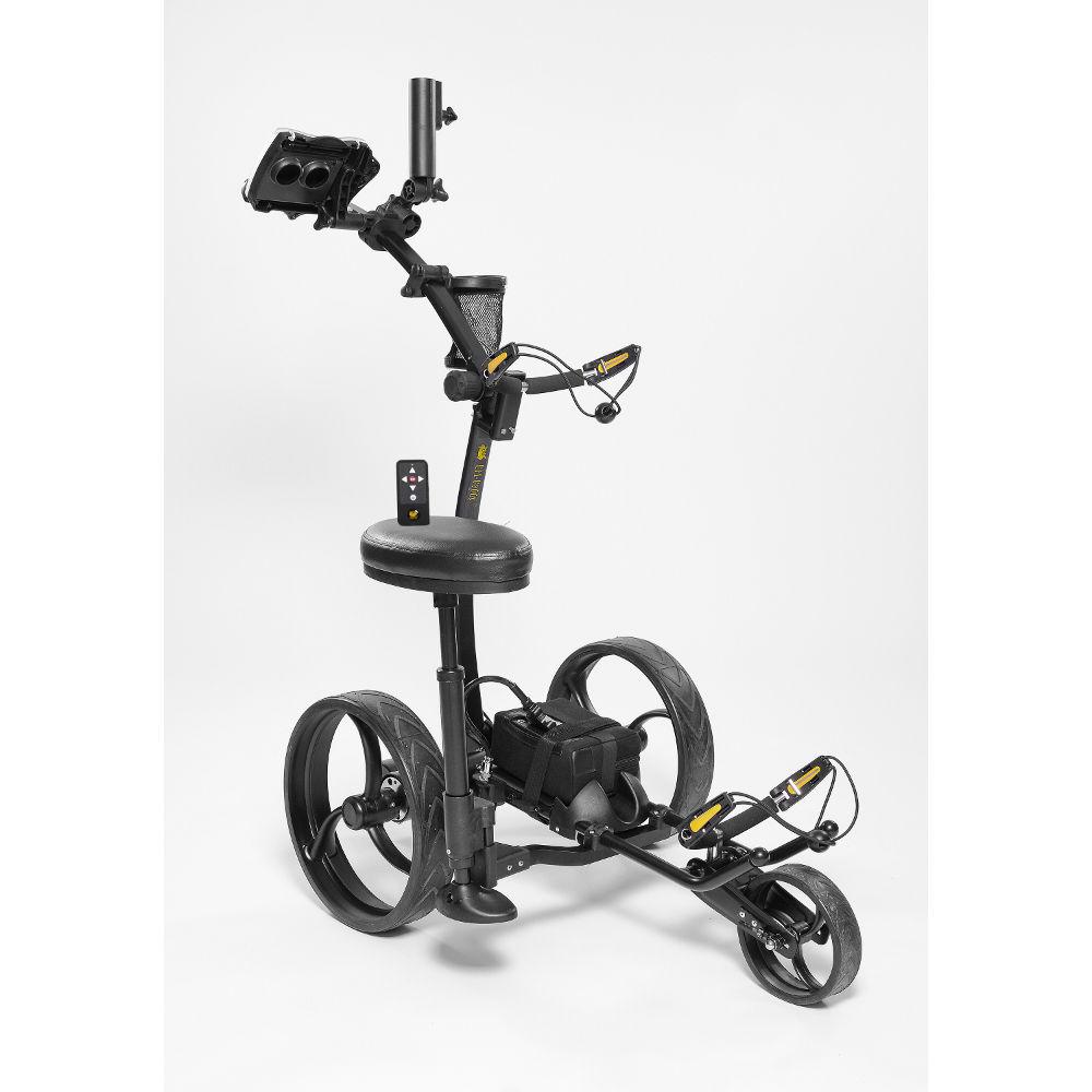Bat Caddy X8R Electric Golf Bag Cart Black w/ 12V 35Ah Ba...
