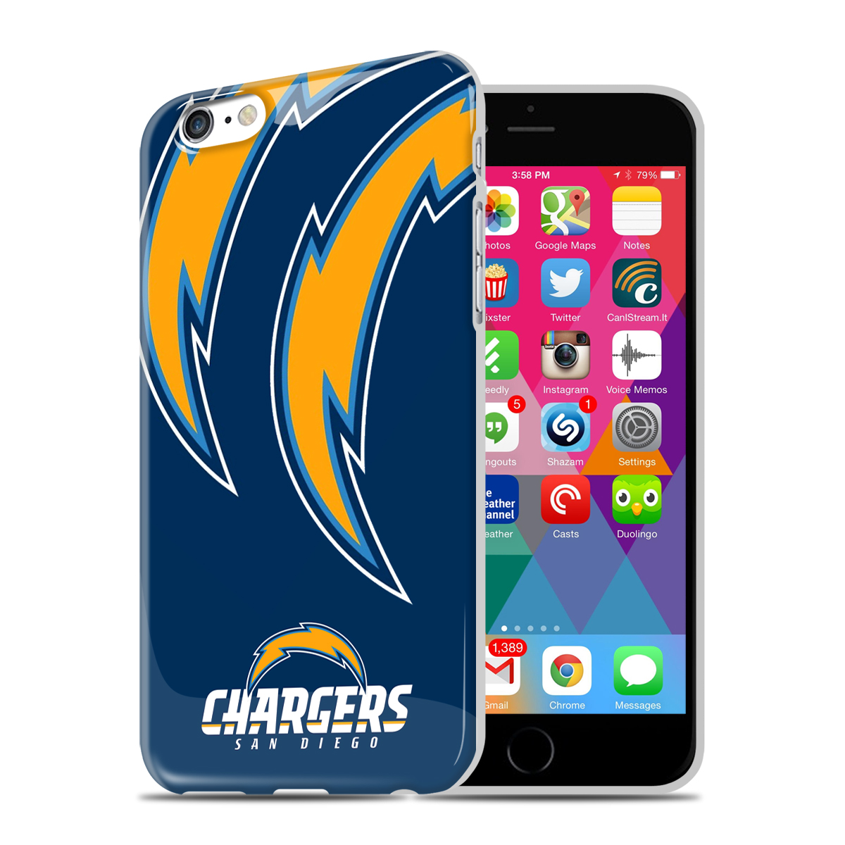 Mizco Nfl San Diego Chargers Phone Case Iphone 6