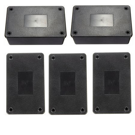 5Pcs Waterproof ABS Plastic Electronic Enclosure Project Box Black  103x64x40mm Electrical Connector