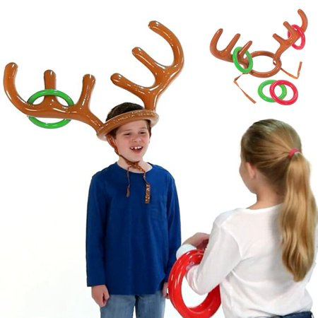 Moderna Funny Inflatable Reindeer Antler Hat Ring Toss Christmas Party Game Toy - Reindeer Game