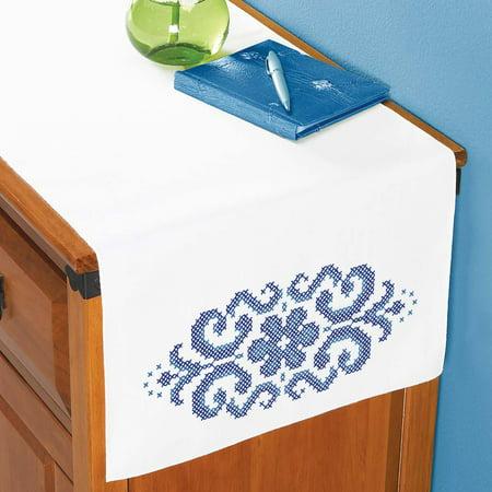 Herrschners® Royal Bloom Dresser Scarf Stamped Cross-Stitch