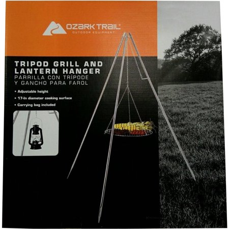 Tripod Camp Grill with Lantern Hanger